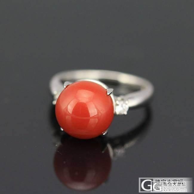 10.89mm珊瑚戒指。