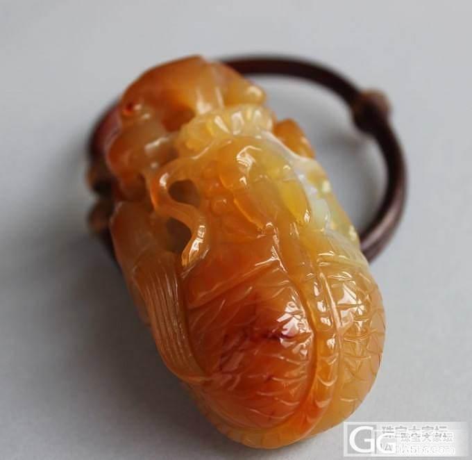 《龙戏珠》天然玛瑙 手把件 俏色巧雕..._玛瑙