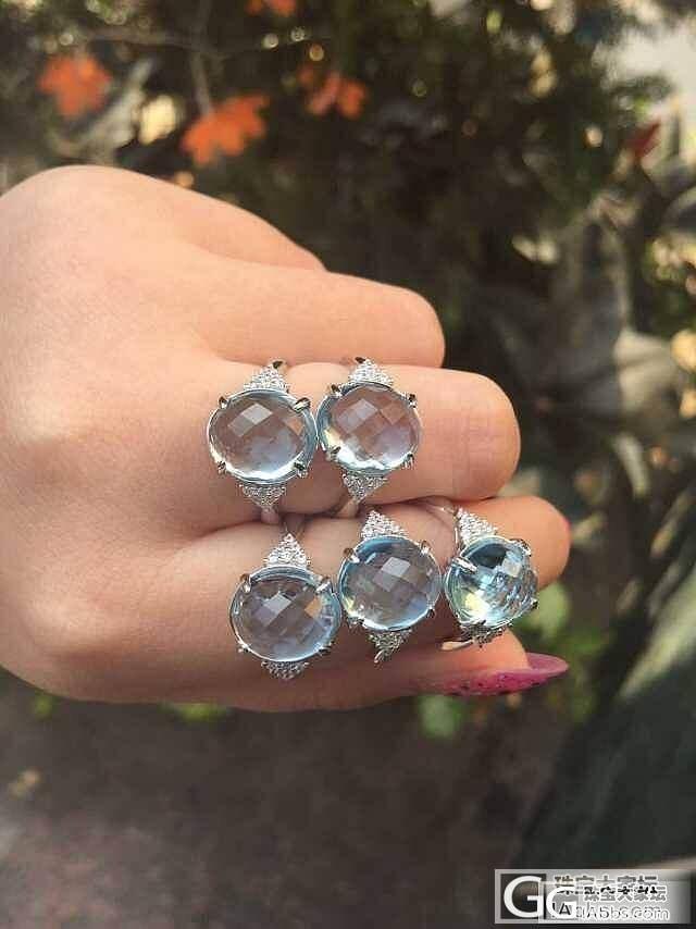 925银镶镀18K金戒指 石榴石 托..._宝石