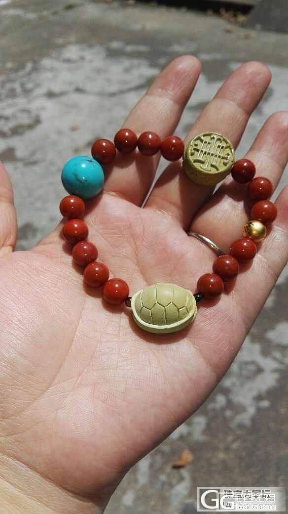 比斯比松石+福禄寿+狮子南红+3D硬金~_珠串南红松石