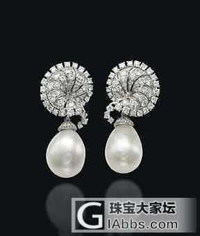 佳士得日内瓦拍卖,天然珍珠耳环,成交价58万美元_珍珠