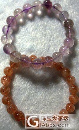 图上的金草莓晶和紫发晶哪一个更受欢迎..._珠串草莓晶紫水晶