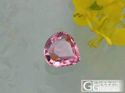 1.85克拉胖水滴形粉色碧玺,全干净,粉萌色,675米整颗_宝石