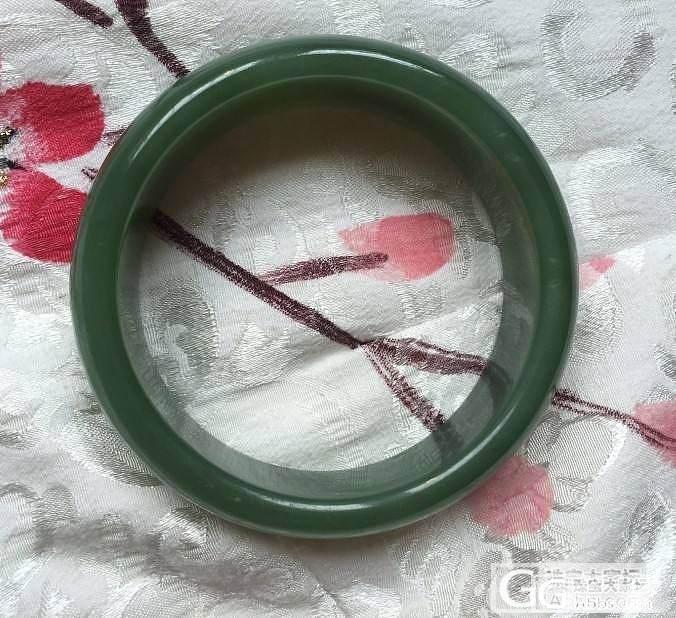 碧玉鸭蛋青手镯,特价380,59圈口_传统玉石