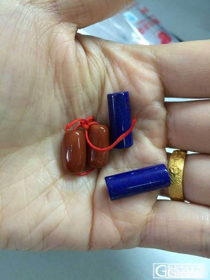 重新转:蜜蜡吊坠、南红青金桶珠和绿松手串_有机宝石