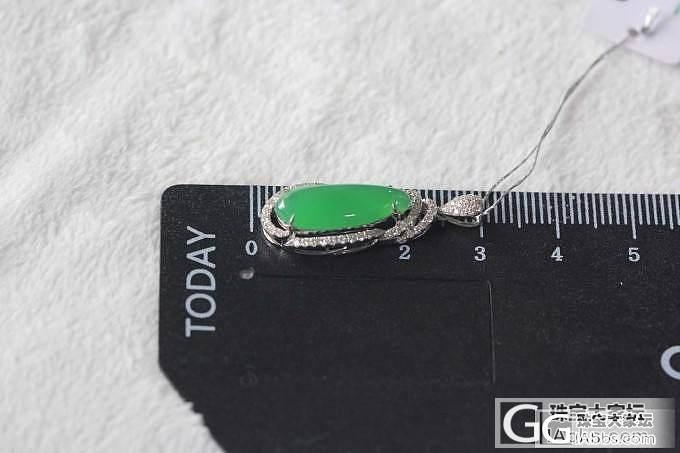 小巧可爱的18K白金镶嵌钻石满绿小福..._翡翠珠宝
