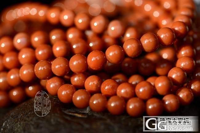 精品四川凉山九口料天然无优化柿子红南红玛瑙108颗佛珠串5-6.5mm_玛瑙