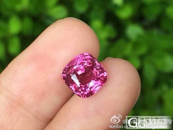 【蓝宝石】3.01克拉无烧热粉色粉蓝宝_上海皇家蓝彩宝