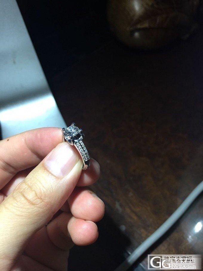 粉钻换的白钻镶嵌好了!_钻石