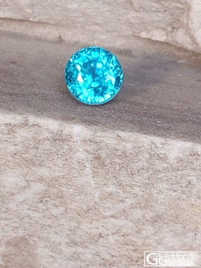 上海展会买的蓝色锆石_锆石刻面宝石