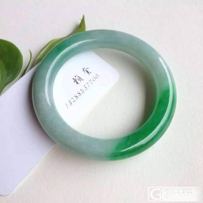 【 赖奎翡翠 】辣色 辣绿 圆条 翡翠手镯 升值大 微信LK8668_翡翠