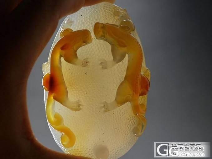 【苍龙教子手把件】天然玛瑙俏色巧雕 ..._传统玉石