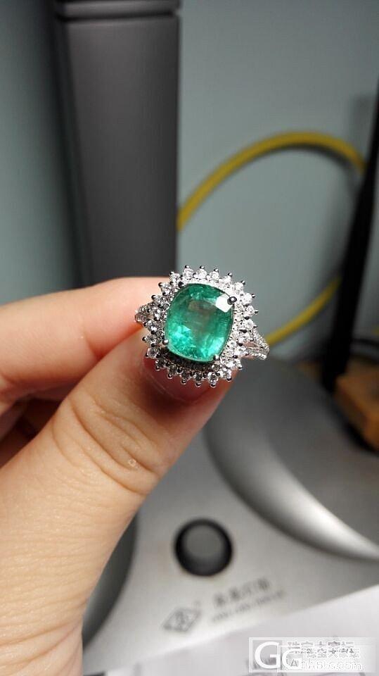 正经的第一个祖母绿戒指。。_戒指祖母绿