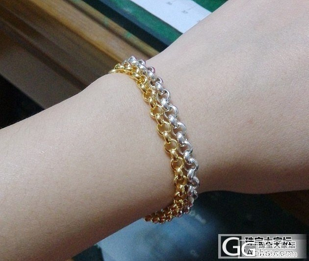 珍珠手链还图,金银珍珠对比一下~~闪..._银手链福利社金