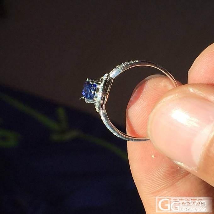 斯里兰卡1.67克拉皇家蓝宝石 刚刚加工的成品戒指 vivid真是好看_戒指斯里兰卡蓝宝石