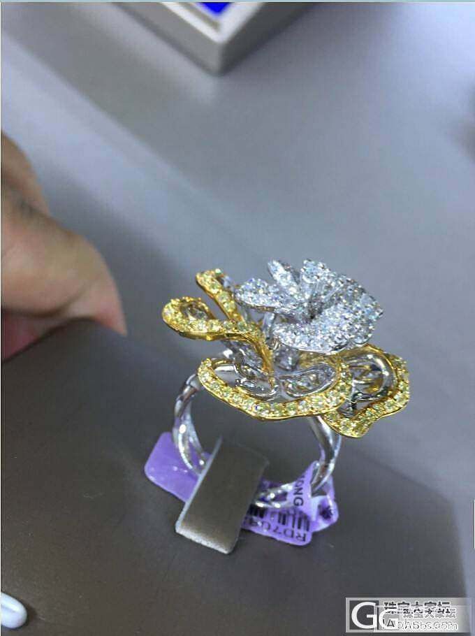 很不错的花朵戒指……_戒指金