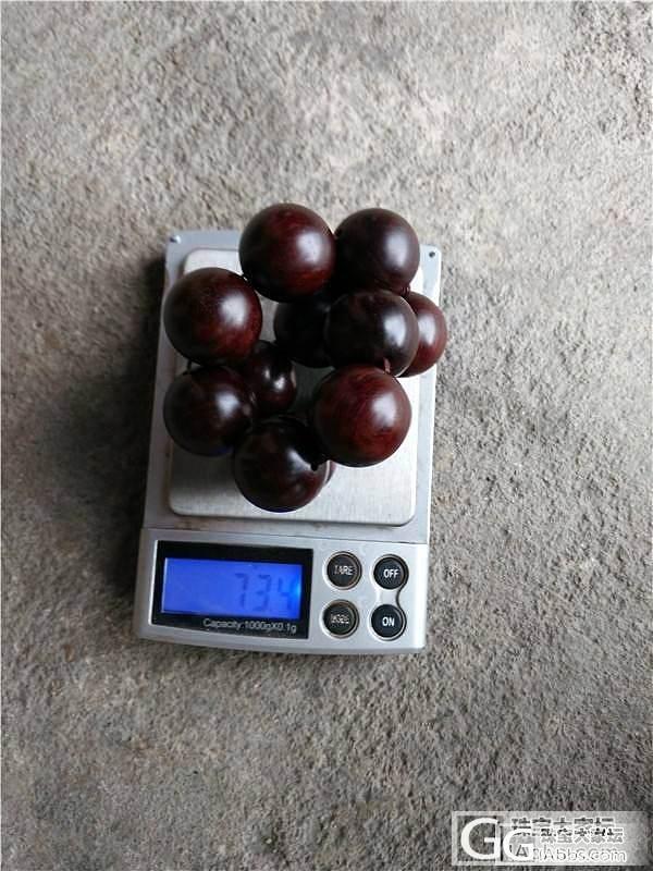 8.08老料小叶紫檀20.12mm莲..._珠宝