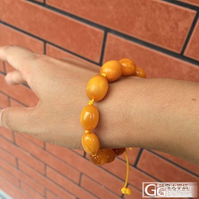 转一条天然老蜜蜡塔链+手链,看一眼就..._名贵宝石