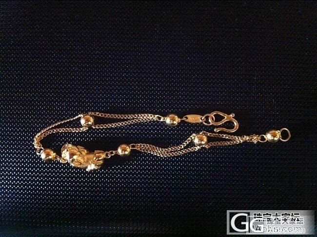 中国黄金的手链_手链金