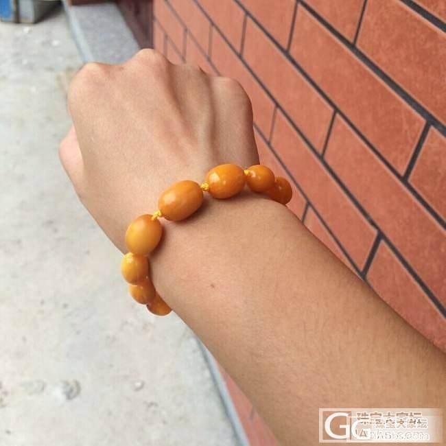 转一条天然老蜜蜡塔链+手链,看一眼就..._宝石