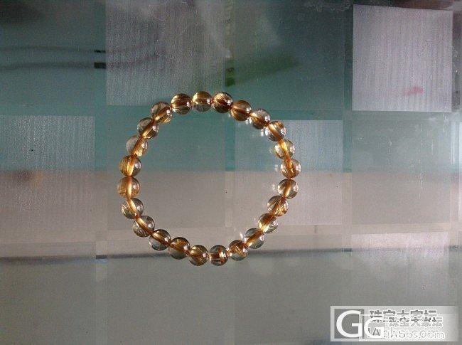 新手买了个小珠子发晶手串,请大神来看..._发晶珠串