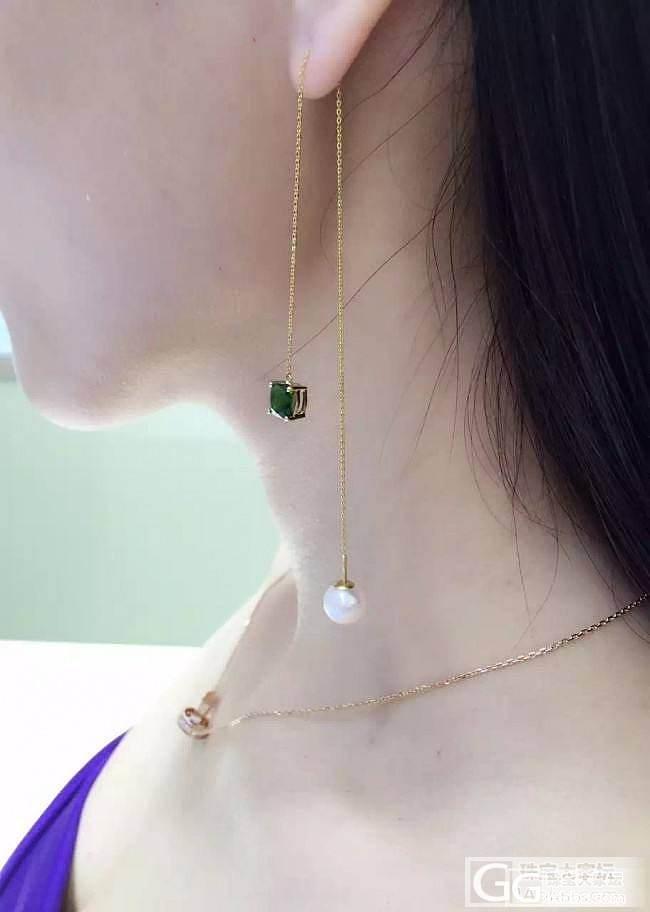 最近喜欢上了耳线_耳线珍珠