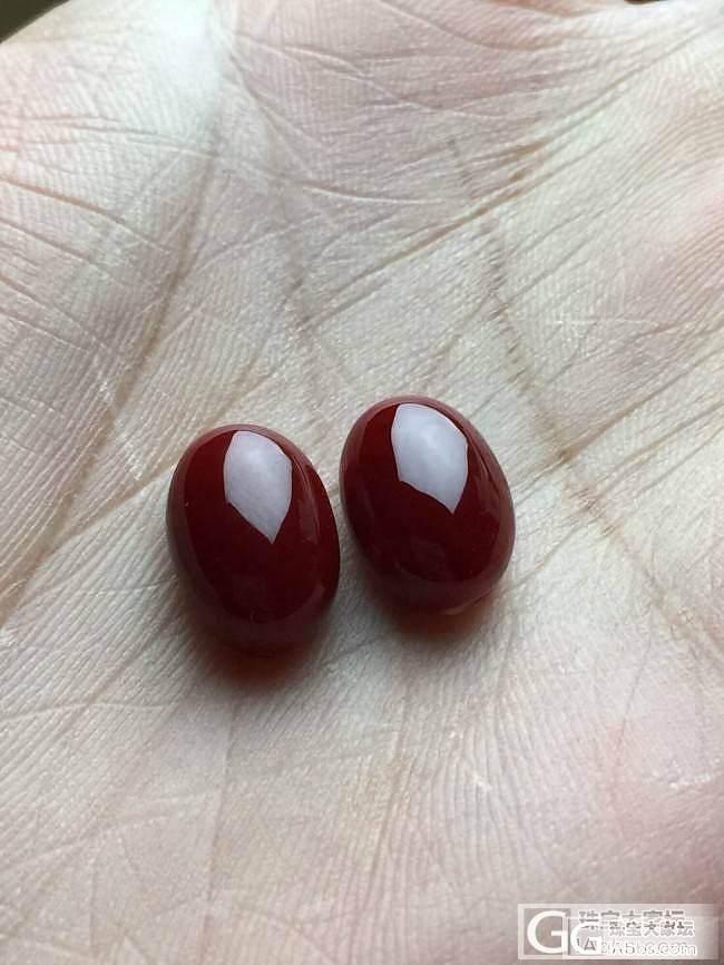 紫霞家一对大耳钉蛋面