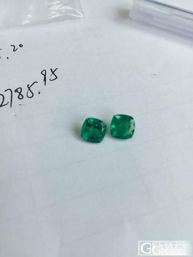 麻烦帮看下这两颗奶奶绿成色_刻面宝石名贵宝石