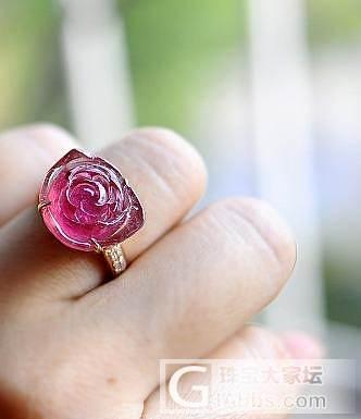 这样的碧玺花戒指有人喜欢吗?_戒指碧玺