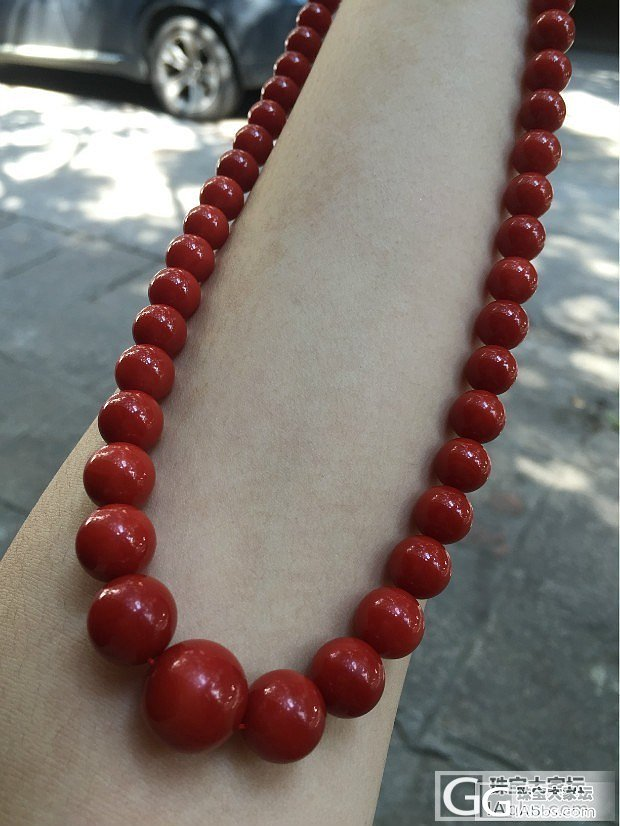 很土,红的也很喜欢  我的收藏,分享_珠串珊瑚蛋面