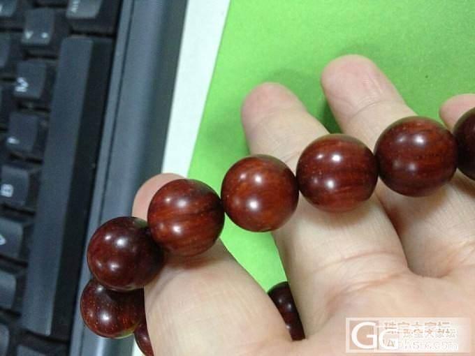 刚收到的新宠,1.2CM的小叶紫檀_珠串小叶紫檀木