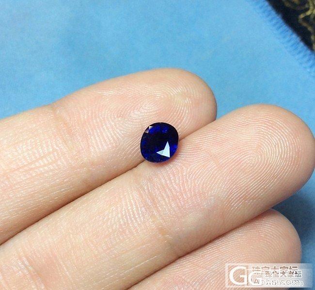 一颗小蓝宝_蓝宝石刻面宝石