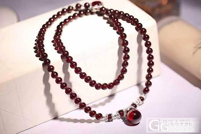天然石榴石手链 女人之石 大家喜欢的..._珠宝