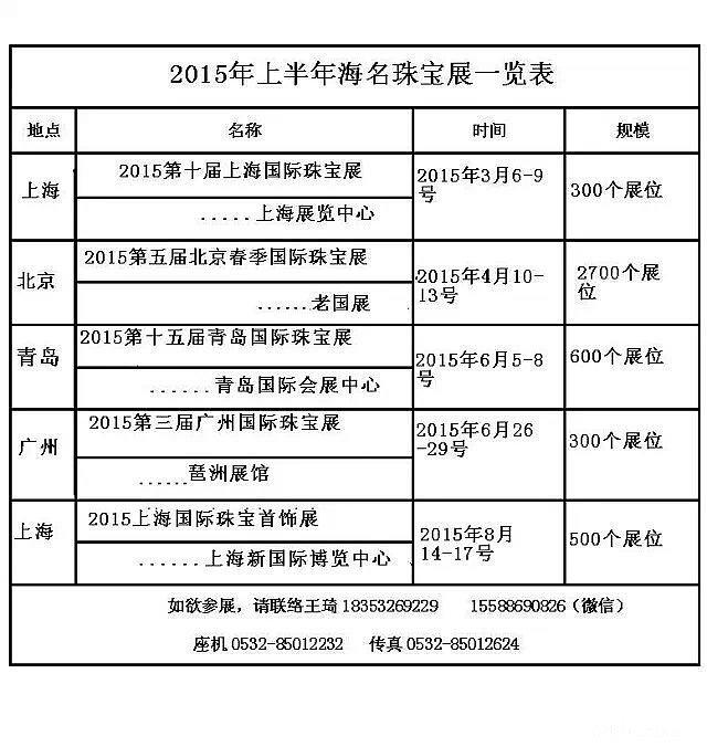 2015年3月第十届上海国际珠宝展_展会珠宝
