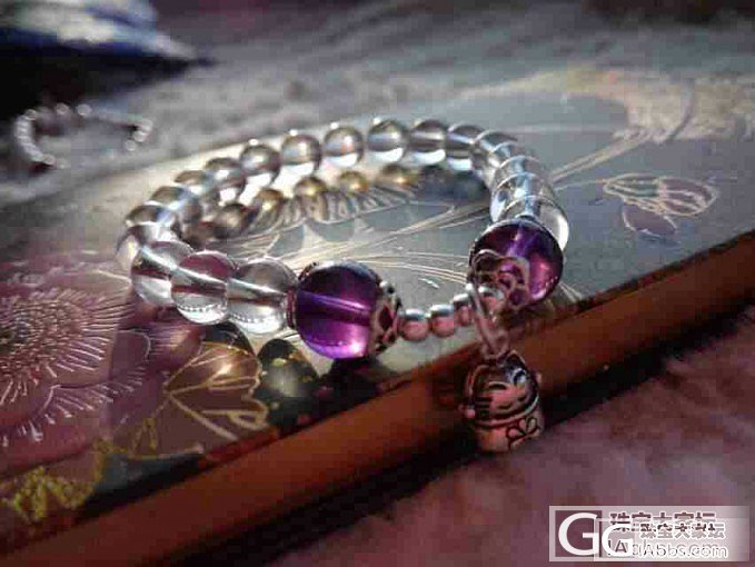 白水晶+紫晶~小小招财猫  微信ID..._珠宝