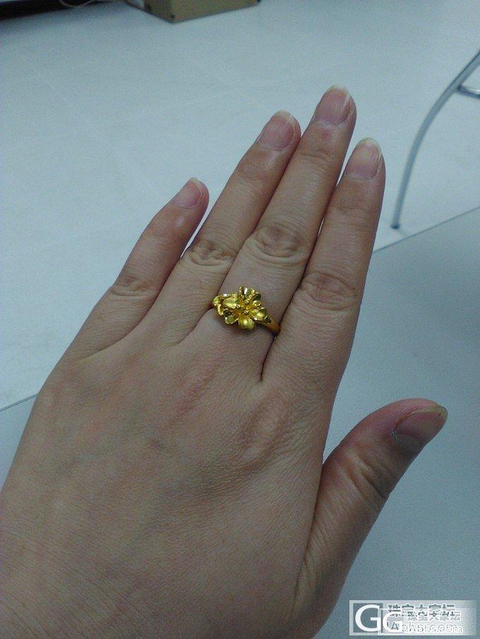 秀一个戒指,应该是玉兰花的_戒指金