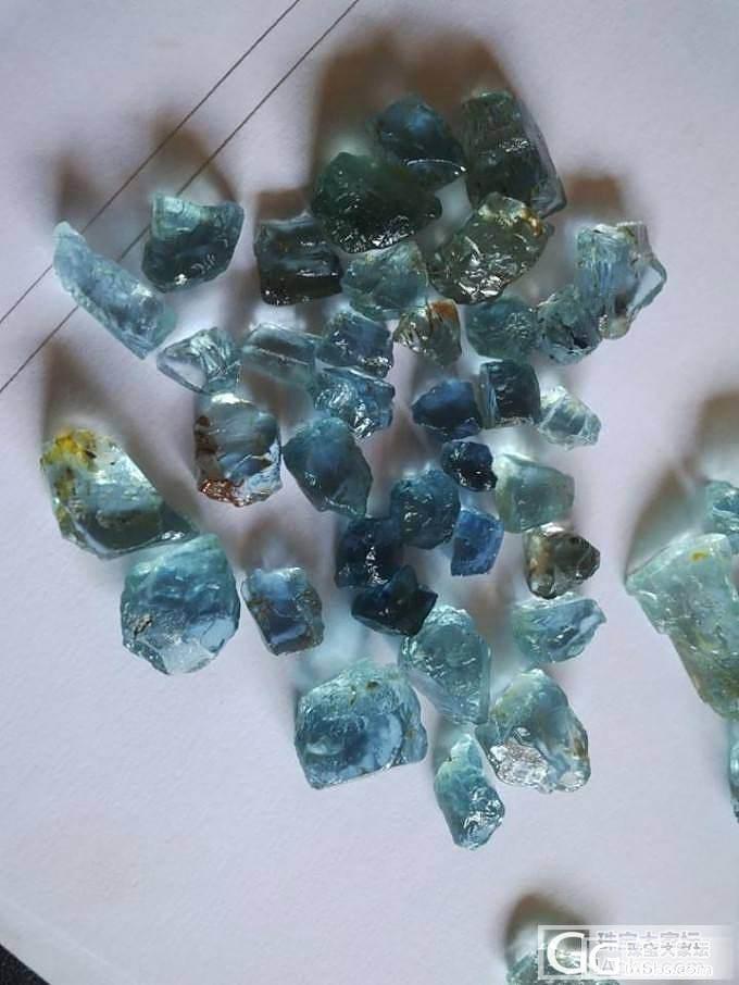 非洲刻面级海蓝宝原石,特级_珠宝