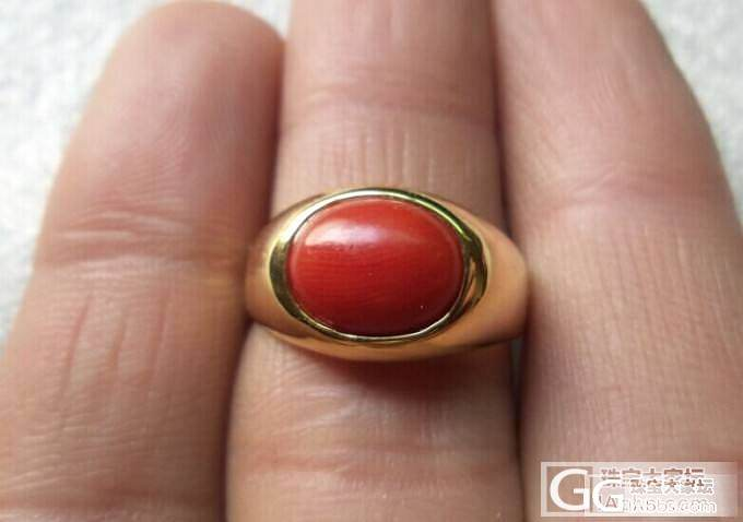 珊瑚戒指350元_有机宝石