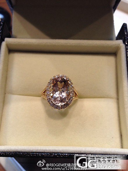 摩根石戒指用3分的辅钻镶嵌的效果就是..._摩根石刻面宝石