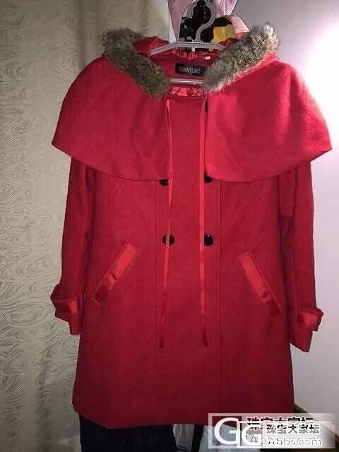 新买的毛领披肩斗篷大衣 新年红色 又..._品质生活