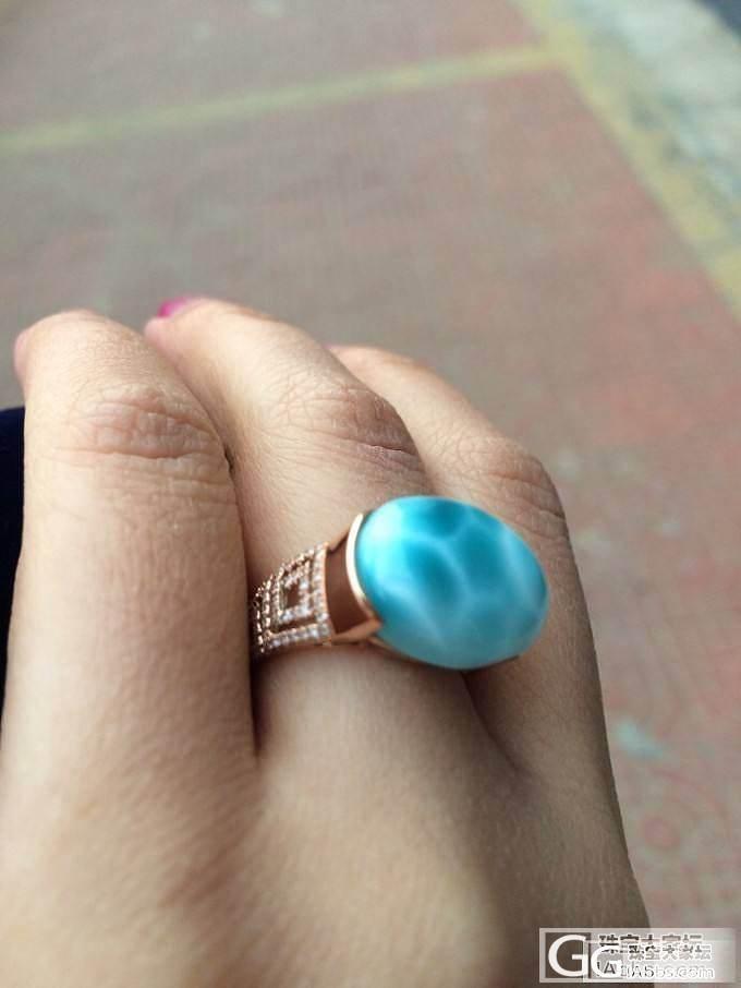 拉利玛戒指到了_珠宝