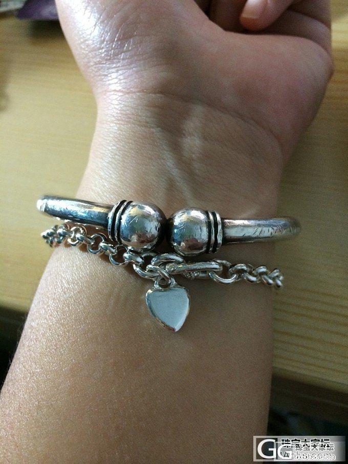 蒜头加珍珠,冬天一抹亮色~_手镯手链银
