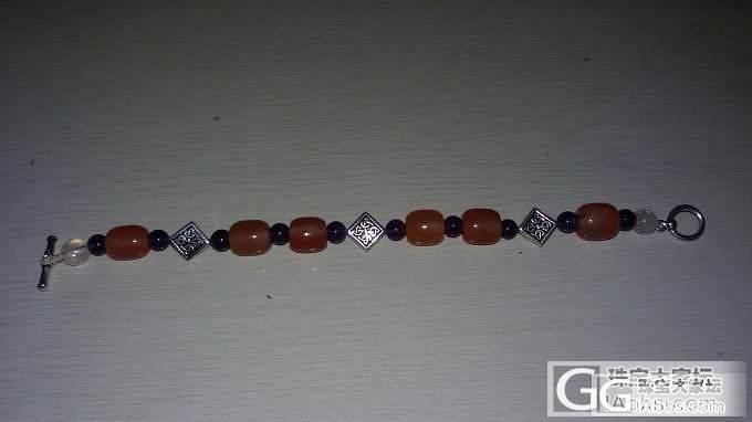 冰粉联合南红桶珠搭配紫晶粉晶进口银饰..._传统玉石