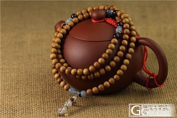 【稀饭香铺】线与珠的相逢 优雅与从容 老山檀手串_文玩