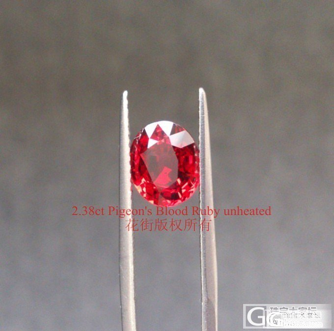 一颗玻璃体的鸽血红红宝石 【内有视频】_红宝石