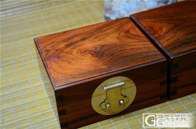 老红木文盒 红酸枝文盒一对(第1件)..._珠宝