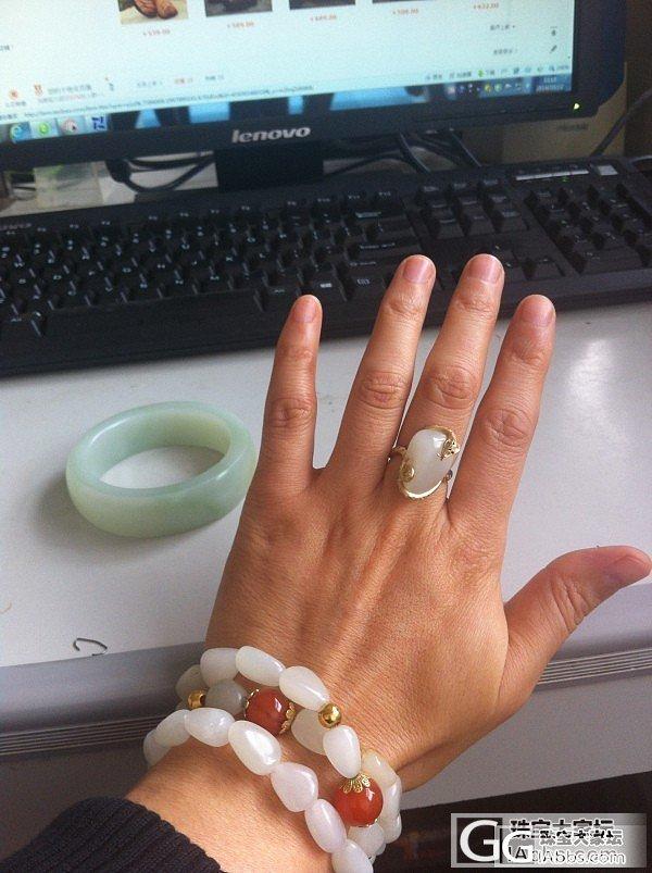 独籽戒指和籽料貔貅挂件,求互闪!_和田玉
