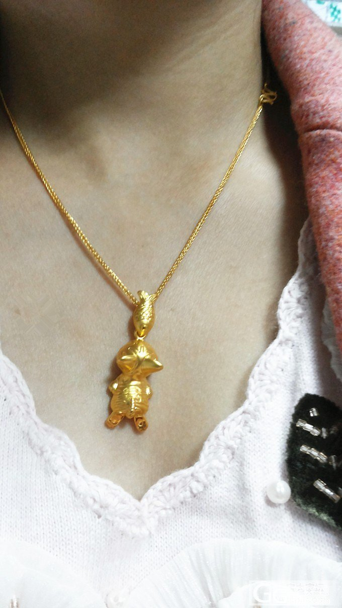 晒下我的肖邦链和猫吃鱼 11.4更新阳光美图_吊坠项链福利社金
