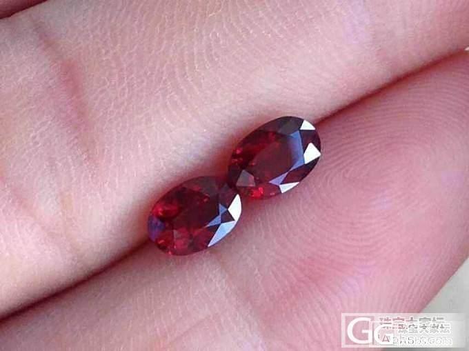 一对克拉无烧鸽血红宝石,喜欢的进_宝石