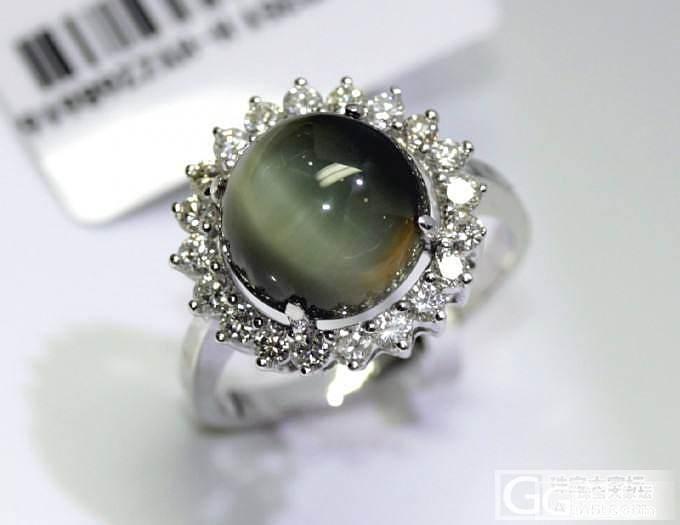 【圣韵宝宝】18K白金猫眼宝石戒指_圣韵钻石